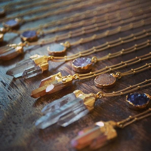 Boho Crystal Pendant Necklaces | Bohemian Jewelry