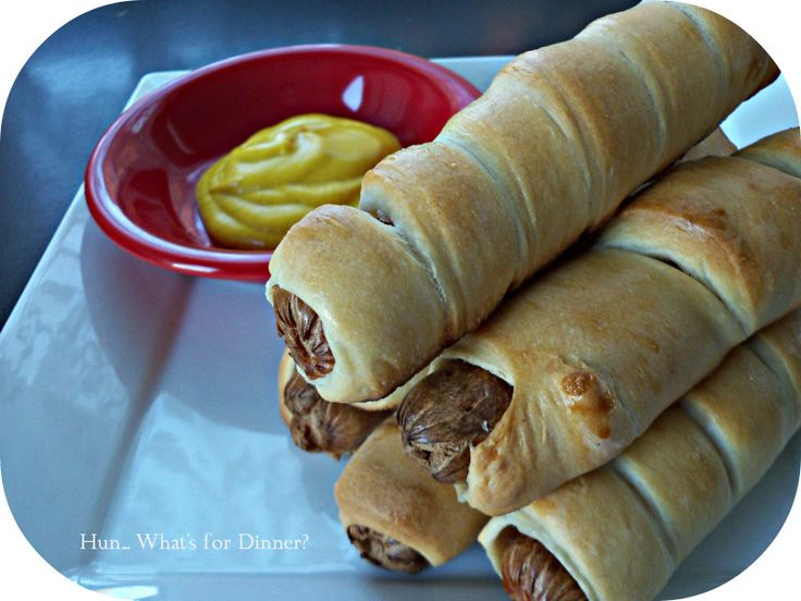 Seriously a  great pigs in a blanket dough recipe! Approved!