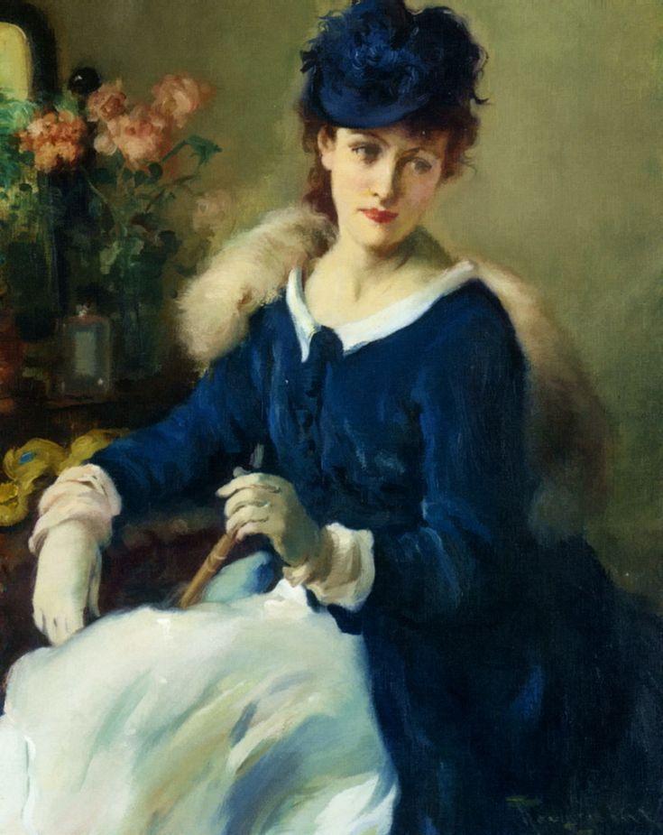An Elegent Woman (Fernand Toussaint)
