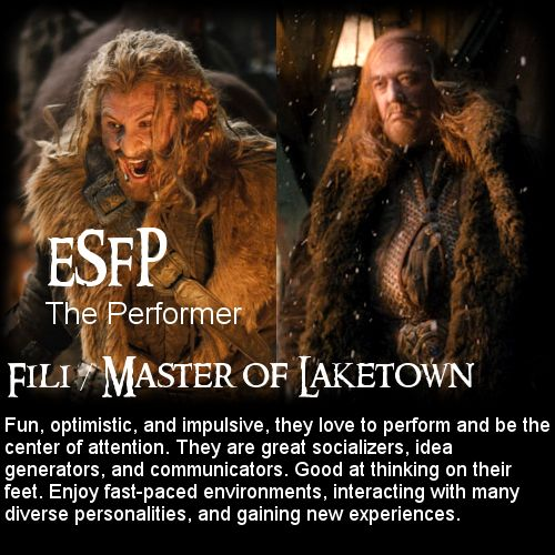 The Hobbit: Battle of the 16 Personalities - Fili + Master ...