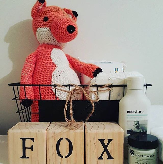 A cute #baby set up from @featherandfoxtribe ❤️ we're loving the wee knitted toy! #ecobaby #home #regram