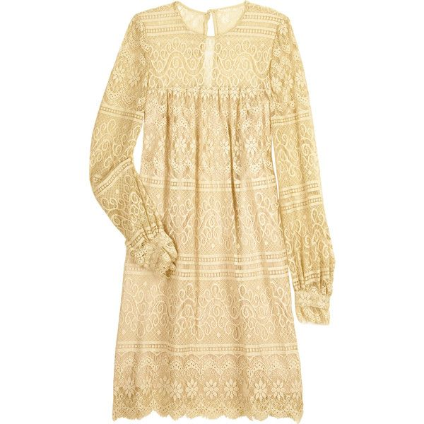 Milly Margot lace dress (€395) ❤ liked on Polyvore featuring dresses, vestidos, haljine, lace, mini dress, vintage white lace dress, sheer lace dress, long sleeve mini cocktail dress and see through dress