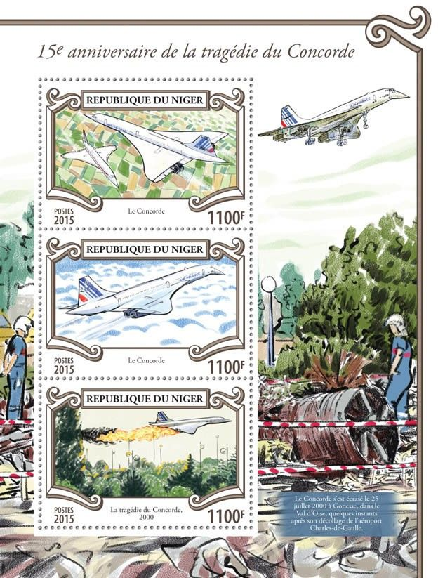 Post stamp Niger NIG 15309 a15th anniversary of the tragedy of the Concorde