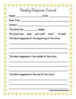 Pictures Reading Response Worksheets - pigmu