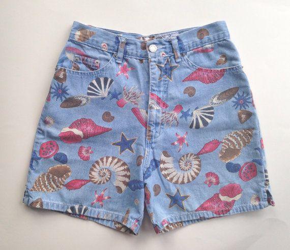 80s Sea Life Shorts by DazedFox on Etsy