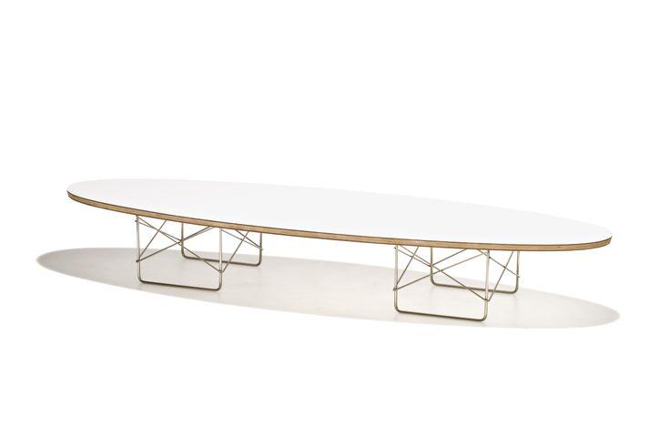 Monte Carlo - Soffbord i låg höjd med lackad vit eller svart bordsskiva och underrede i stål.
