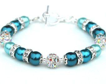 Etwas Blaues Armband Brautjungfer Schmuck von AMIdesigns auf Etsy