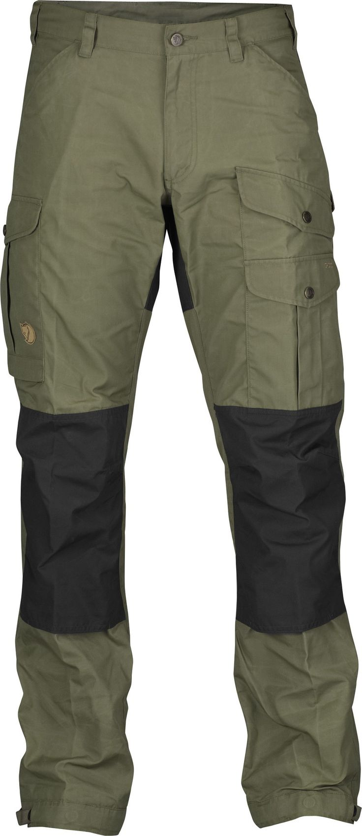 Fjallraven Vidda Pro Trousers. These are tough pants! The knees and butt are reinforced and they have very roomy pockets that can even fit my iPhone 6s Plus. There's also a wax that you can apply that can make it water resistant.