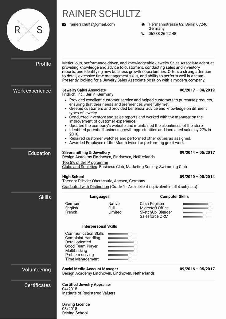 Sales associate Resume Example Unique Sales associate