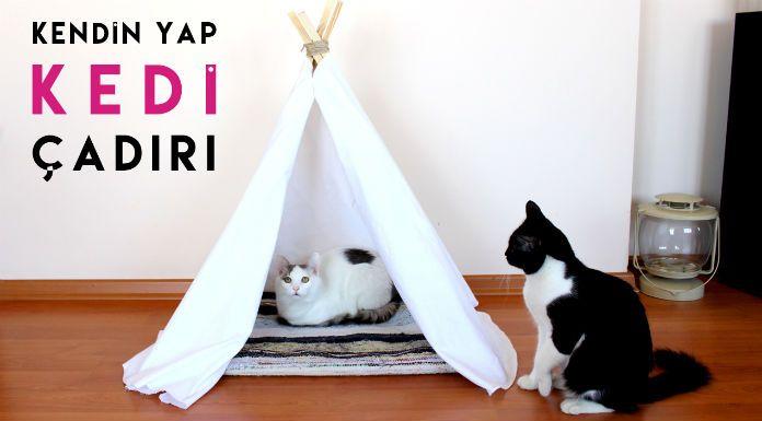 Kendin Yap: Kedi Evi / Oyun Çadırı / Bohem Çadır Yapımı