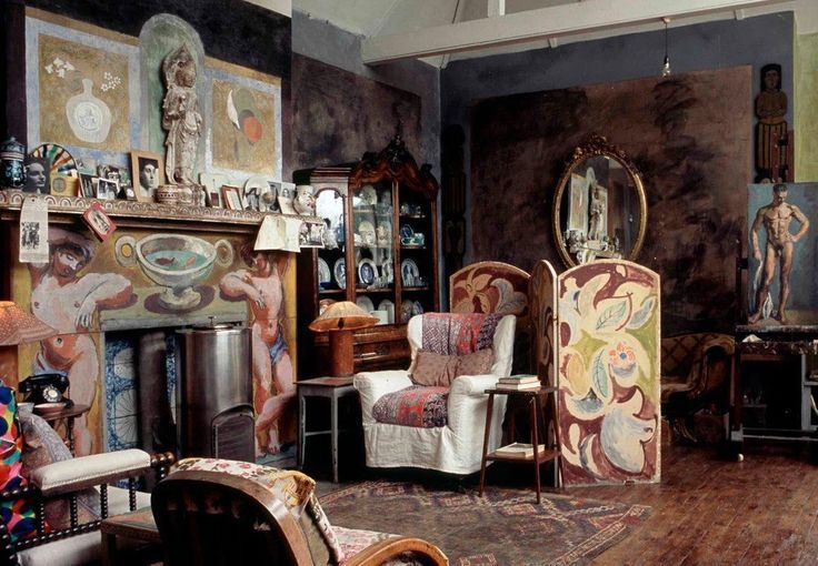 The drawing room at Charleston, home of the Bloomsbury Group