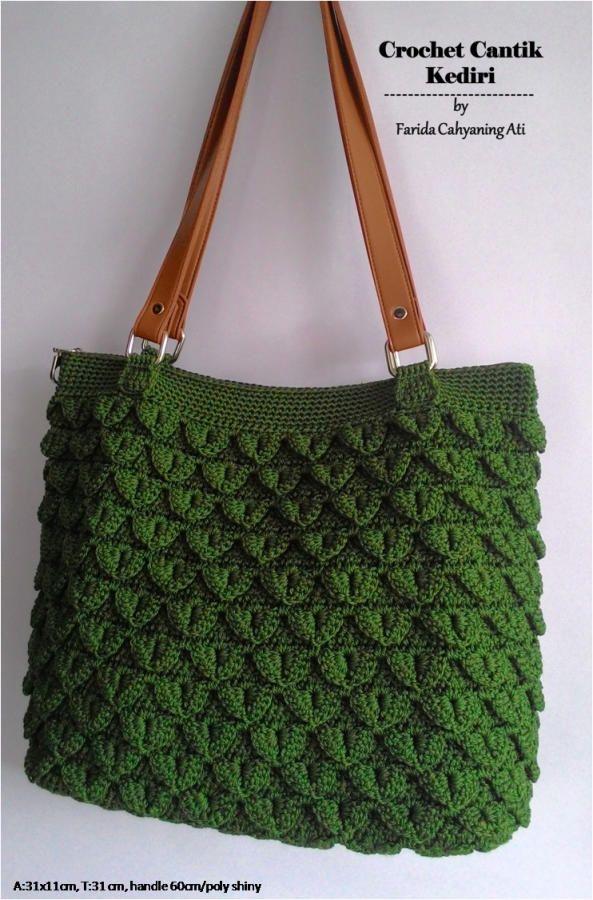 Crocodile stitch tote bag by Farida Cahyaning Ati