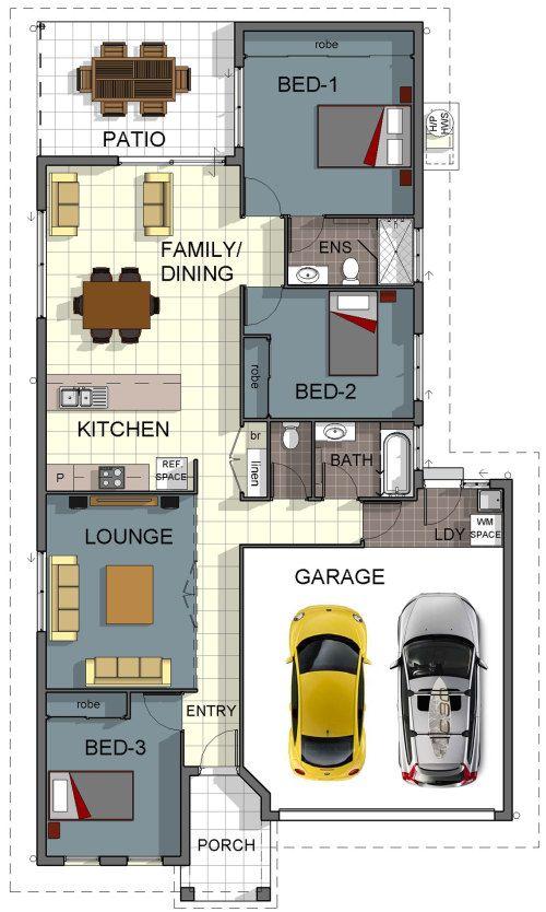 Cosmo 1 Home Floorplan Design - Download Brochure // Property Features: 3 Bedrooms, 2 Bathrooms, Theatre / Lounge, 2 Car Garage, Built-In Robes, Outdoor Entertaining