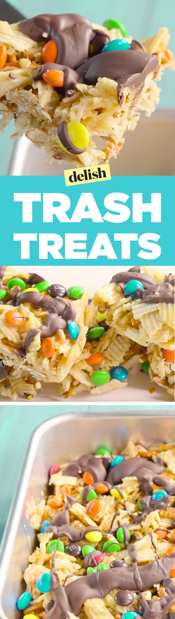 Trash treats beat rice krispie treats every time. Get the recipe on Delish.com.