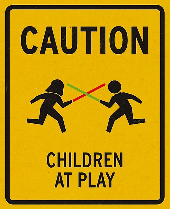 I think running with lightsabers is just as bad as running with scissors... don't do it, kids!