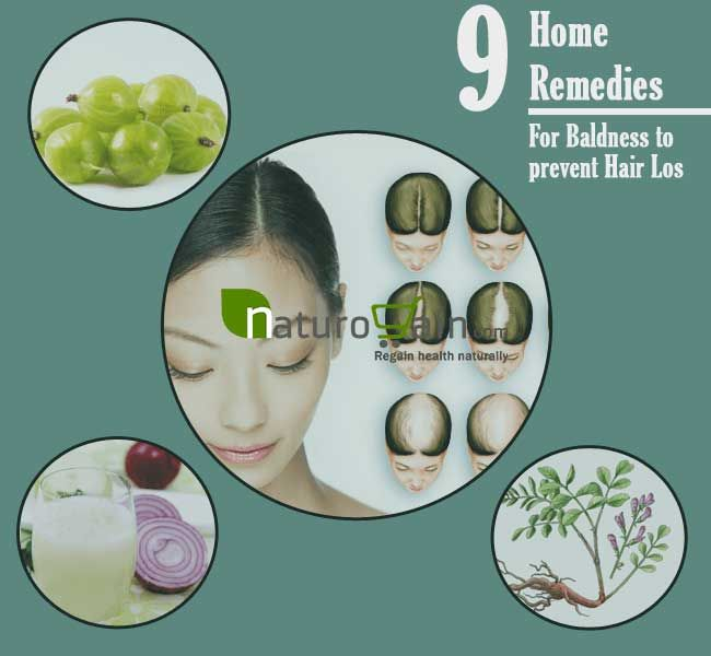 Home remedies for baldness are the best natural ways to grow hairs over bald patches and increase growth rate and their regular use prevent hair damage.