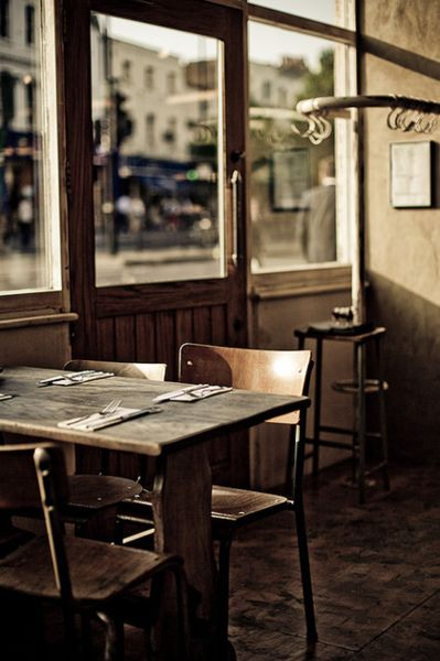 The charm of an empty café photographed by Gege Gatt on Flickr #interior #cafe #london #flickr