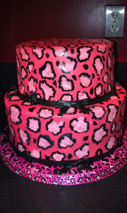 92 best Animal Print Cakes images on Pinterest Animal prints
