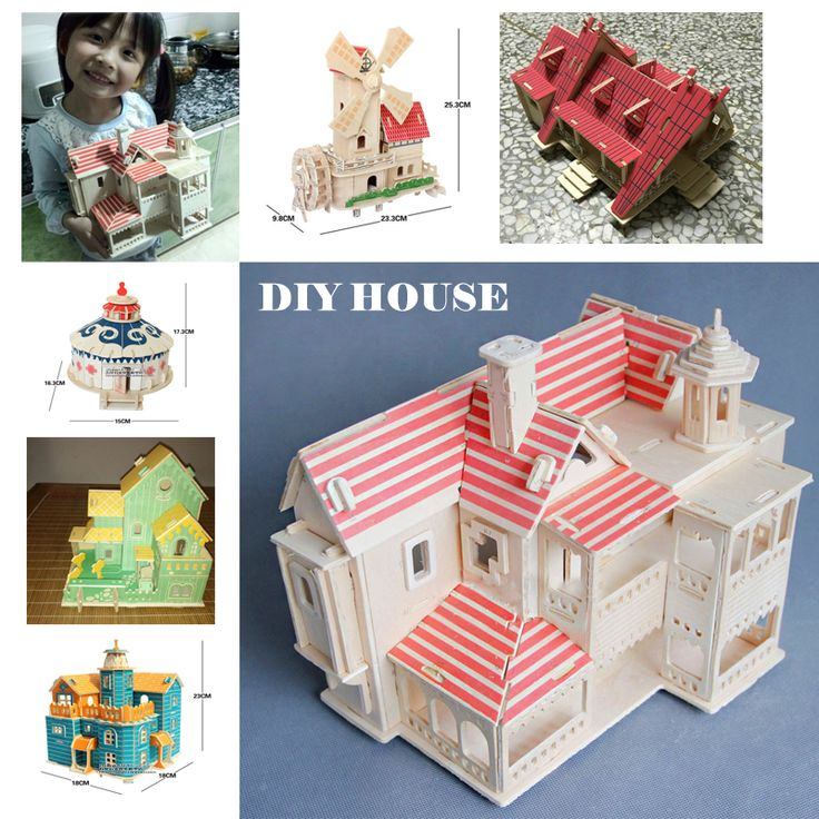 doll house furniture DIY wooden HOUSE Model building kits Home Decoration Crafts educational toys  wood puzzle for children