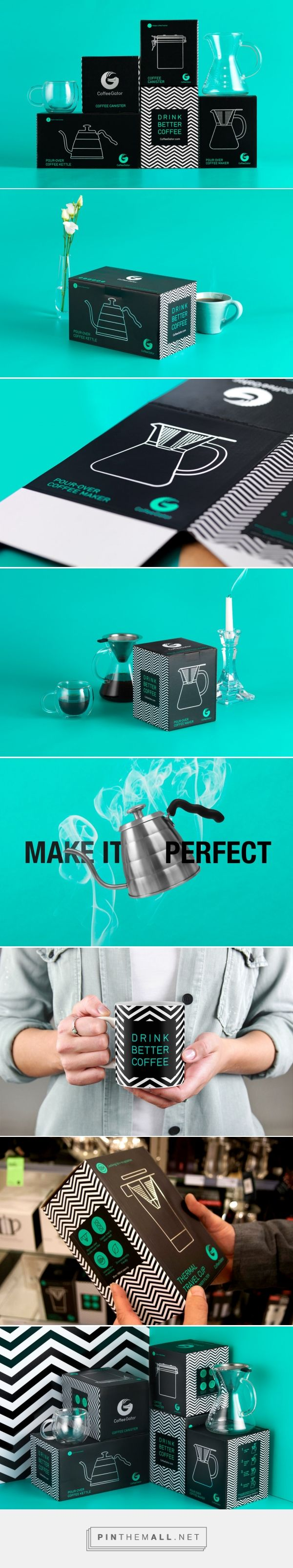 Drink Better Coffee With CoffeeGator — The Dieline | Packaging & Branding Design & Innovation News... - a grouped images picture - Pin Them All