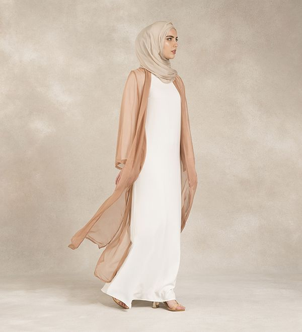 Pure Silk Blush Kimono - £59.99 : Inayah, Islamic Clothing & Fashion, Abayas, Jilbabs, Hijabs, Jalabiyas & Hijab Pins