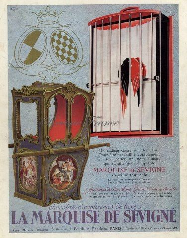 vintage ad marquise de s 233 vign 233 chocolate by reveriefrance deco posters
