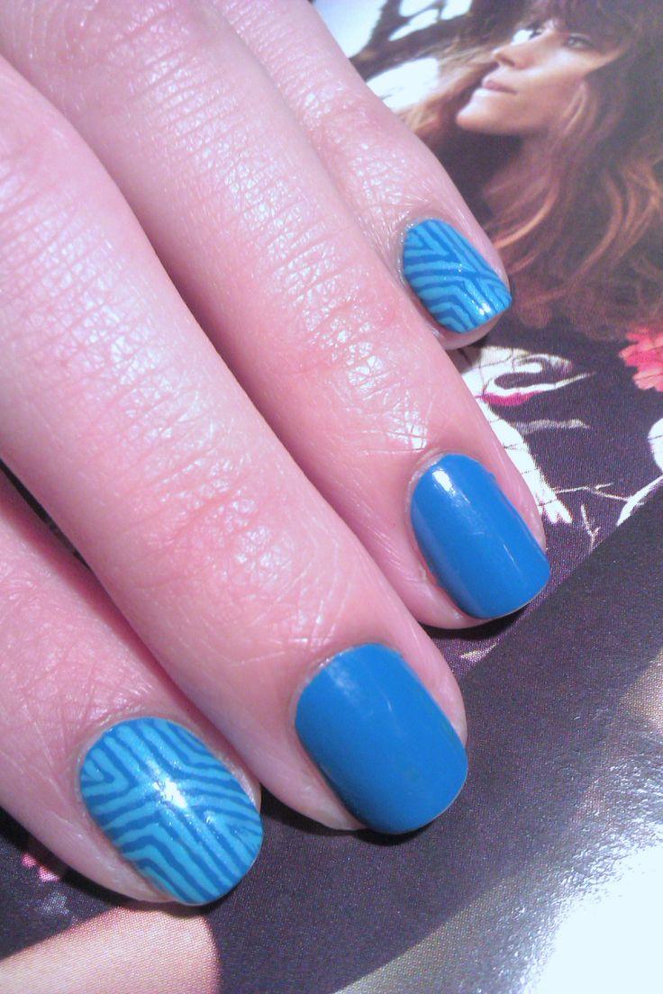 Blue & lines / Niebieskie w paski #nailart #zdobienie #paznokcie