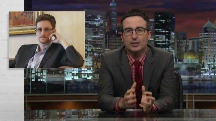 Watch: John Oliver Interviews Edward Snowden in Russia on 'Last Week Tonight'