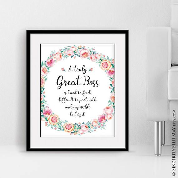A Truly Great Boss Is Hard To Find Wall Art Gift As Farewell Or Goodbye To The Boss Who S Leaving The Office Or Going On Retirement 40037 Printable Wall Art