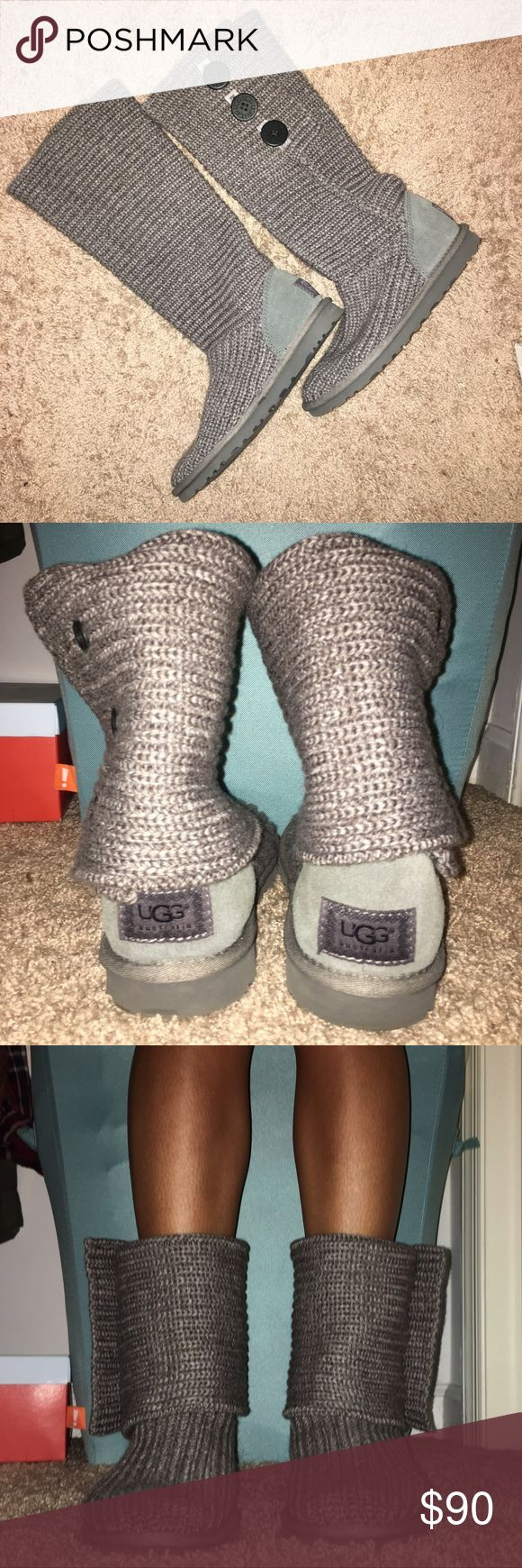 *Never Worn* UGG Classic Cardy Sweater Boots NEVER WORN! Amazing condition! Can be worn over the calf or folded over as shown in picture. No box. UGG Shoes Winter & Rain Boots