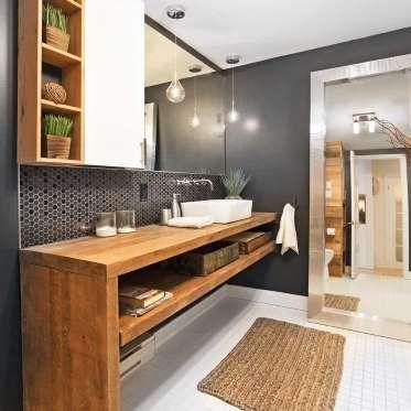 Les 25 meilleures id es concernant salle de bain for Caler un meuble