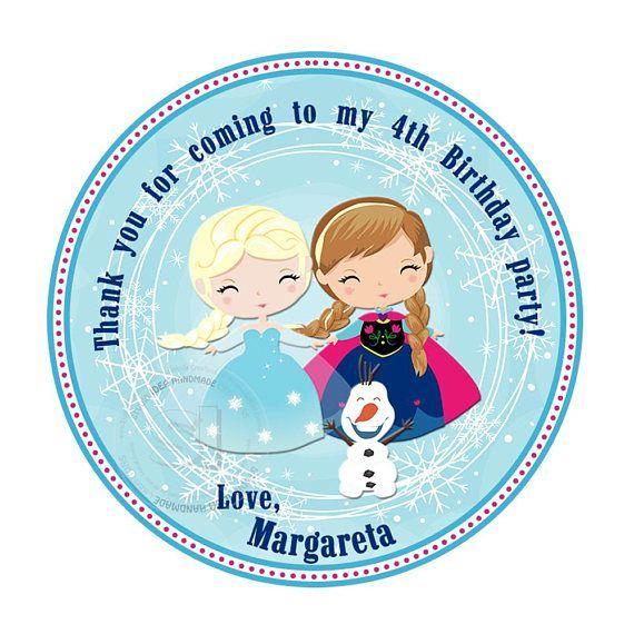 Custom Frozen Printable Tags-Elsa-Anna-Olaf Frozen