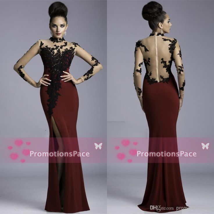 Cheap burgundy prom dresses