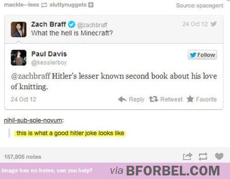 The best Hitler joke I ever did see