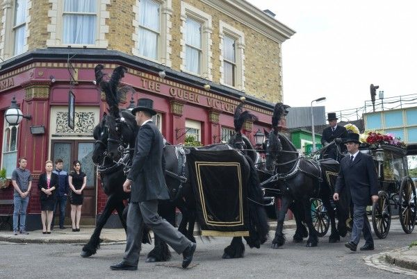 Peggy Mitchell's funeral in EastEnders (BBC)