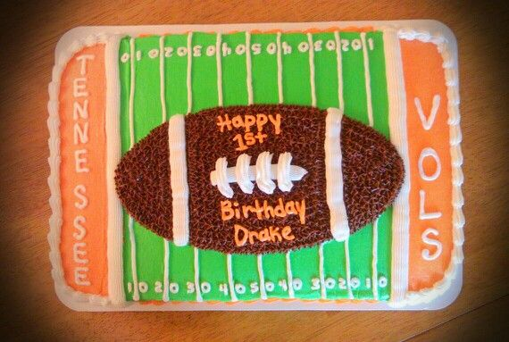 TN VOLS FOOTBALL CAKE