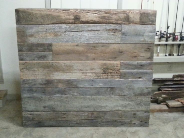 Barnwood Headboard That I Made For A Friend! I Really Enjoy Building With  Barn Wood