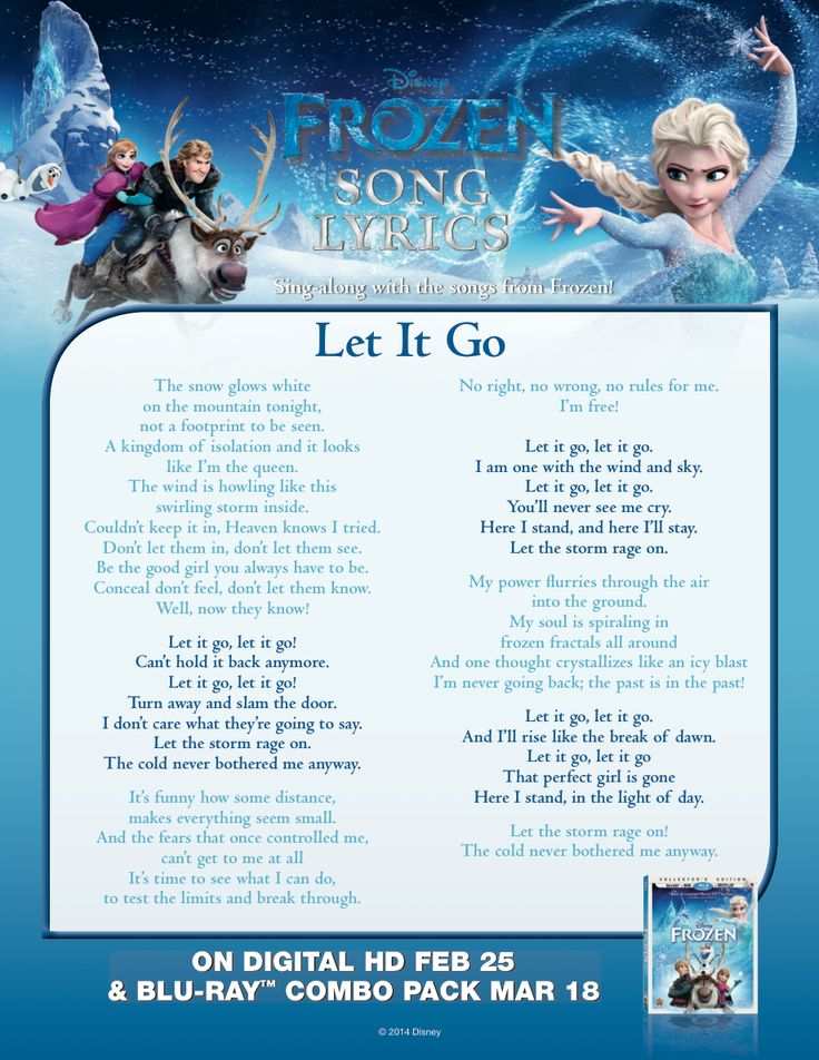 let it go lyrics - Google Search