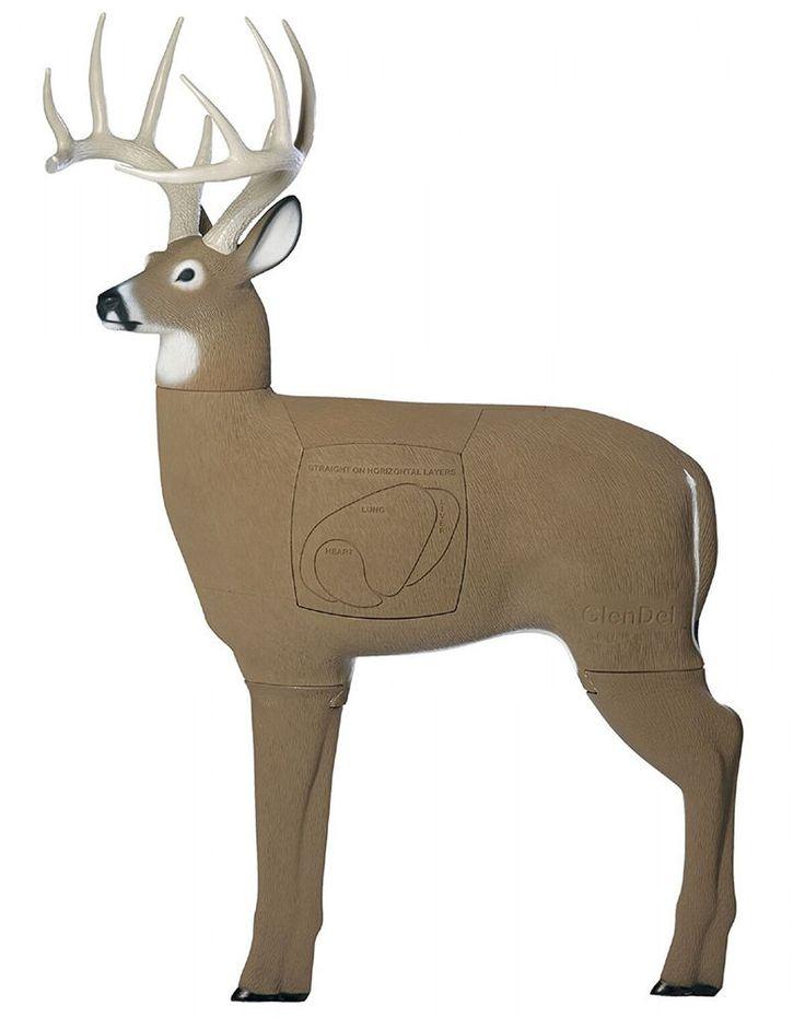 Big Buck 3D Archery Target w/Replaceable Insert Core Deer Hunt Bow Hunting Arrow #FieldLogic