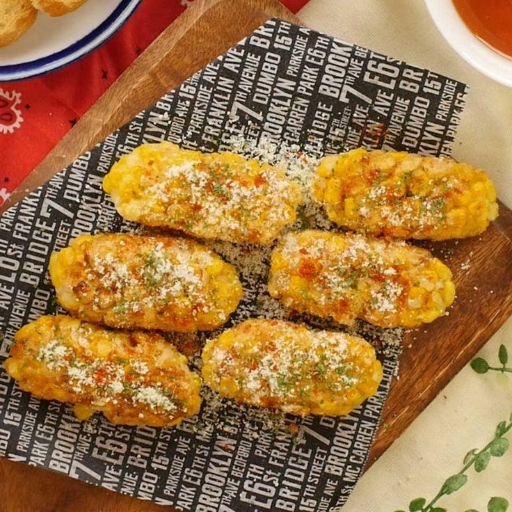 ふわふわ食感!「はんぺんとコーンのもろこし揚げ」の香ばしい風味のトリコ♩ - macaroni