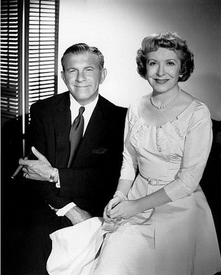 "Gracie Allen With Husband George Burns.  They were so funny.  ""Say goodnight Gracie."" ""Goodnight Gracie."""