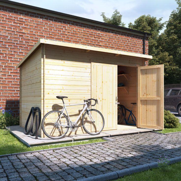 Buy a BillyOh Pent Log Cabin Windowless Heavy Duty Bike Store Range from Garden Buildings Direct