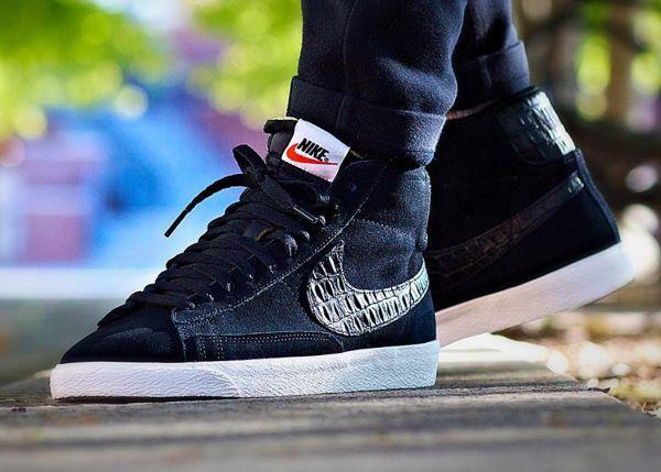 Nike Blazer Mid PRM Vintage Croc Black