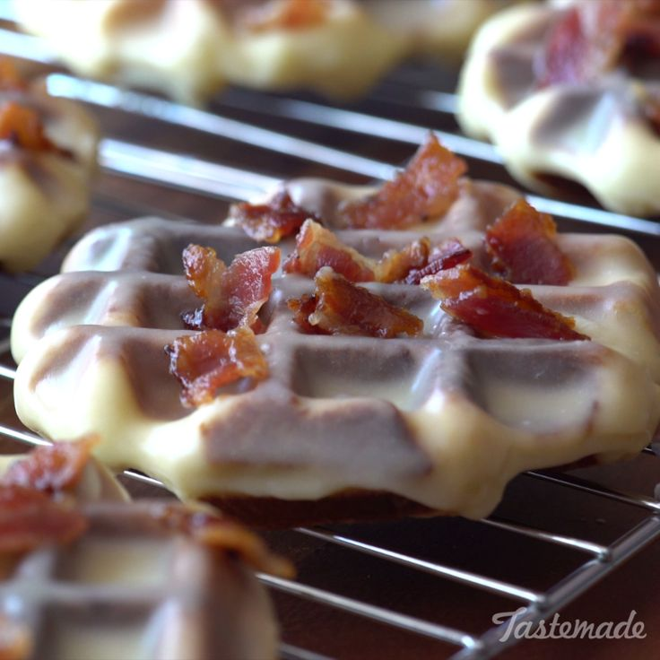 These ridiculously yummy waffle donuts are a bit sweet and salty, and a whole lot of delicious!