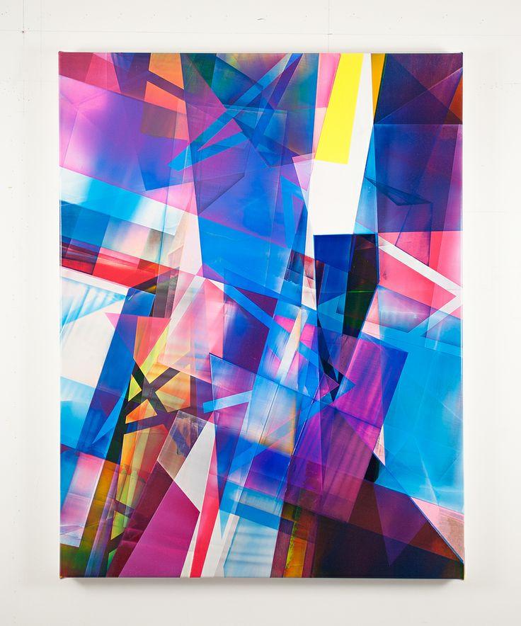Bringing together abstract shapes and composition. Torben Giehler
