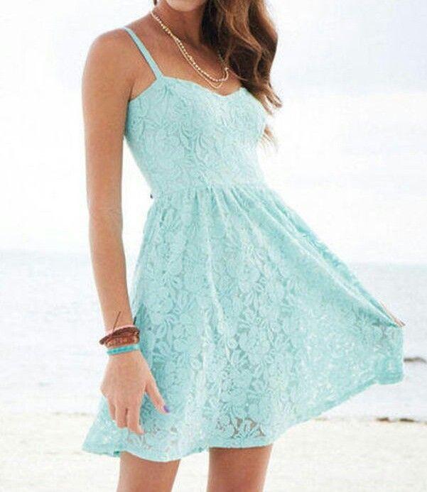 Light blue floral summer dress