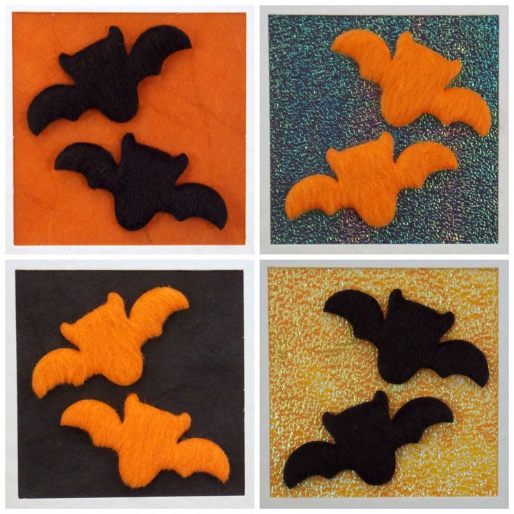 Halloween card, bats - black or orange, festival of the dead, trick or treat, all hallows eve, blank card, spooky, scary, party invites - pinned by pin4etsy.com