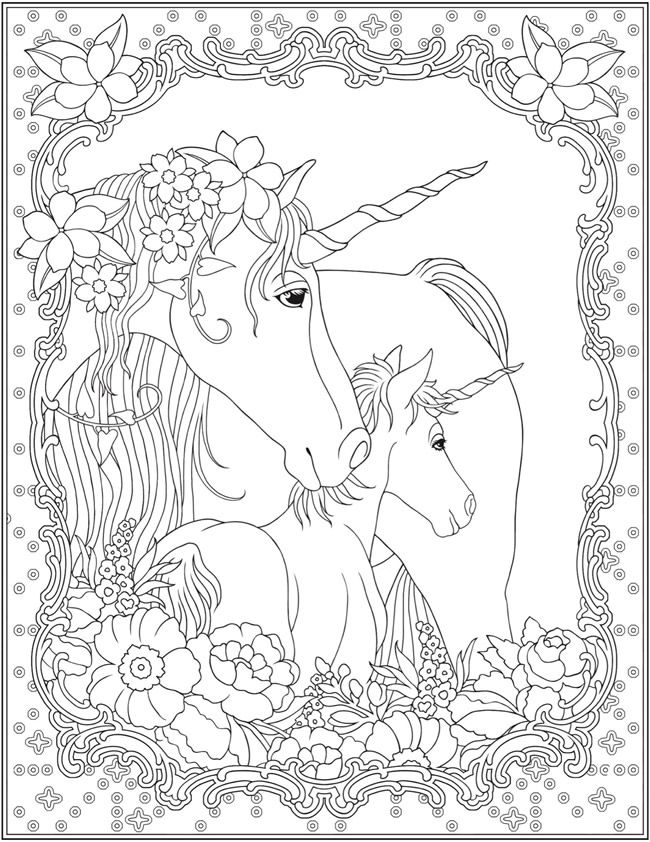 Dover Publications Unicorn Coloring Pages Coloring Pages Horse Coloring Pages