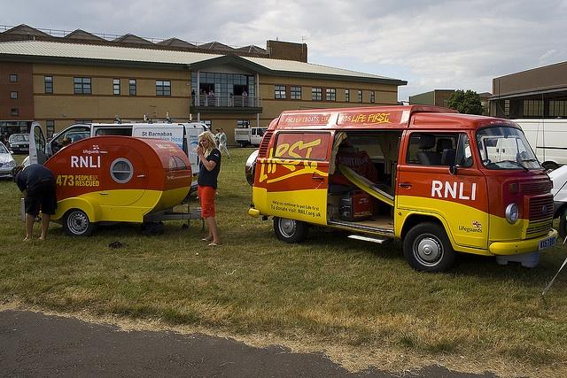 RNLI livery teardrop and campervan