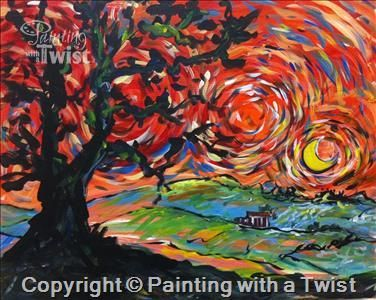 15 best paint me parties images on pinterest painted for Painting with a twist charlotte nc